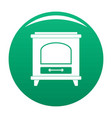 ancient oven icon green vector image vector image