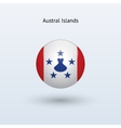 Austral Islands round flag vector image vector image
