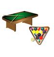 billiards table vector image vector image