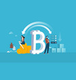 bitcoin shopping vector image vector image