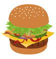 Burger isolated vector image vector image