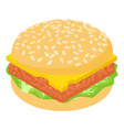 burger light icon isometric 3d style vector image vector image
