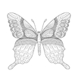 Butterfly coloring book for adults vector image vector image