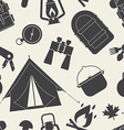 Camping and Hiking Seamless Pattern vector image vector image