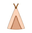 camping tent cartoon vector image