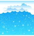 cartoon clouds sky snow vector image vector image