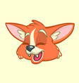 cartoon fox head vector image