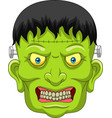 cartoon zombie head isolated on white background vector image vector image