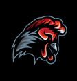 chicken head mascot vector image
