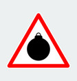 christmas bauble warning triangle road sign vector image