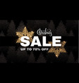 christmas sale banner elegant design template vector image