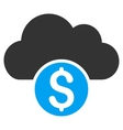 Cloud Banking Flat Icon vector image vector image