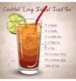 Cocktail Long Island Iced Tea vector image vector image