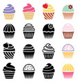 collection of black and white and colorful vector image vector image