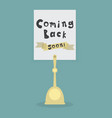 coming back soon note on card holder vector image