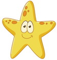 cute starfish vector image vector image
