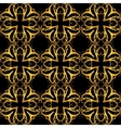 decorative golden seamless vector image vector image