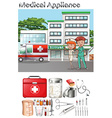 Doctor and nurse at the hospital vector image