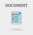 document with two ticks flat style vector image