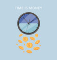 effective time management times is money cartoon vector image