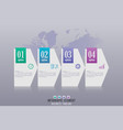 elements for infographic template vector image vector image
