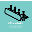 Escalators vector image