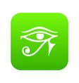 eye of horus egypt deity icon digital green vector image