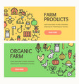 farm products banner horizontal set vector image