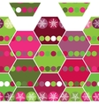 Festive seamless pattern hexagon and Christmas vector image vector image