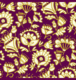 folk-style classic floral pattern vector image vector image