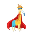 Giraffe Animal Dressed As Superhero With A Cape vector image vector image