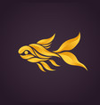 goldfish logo icon vector image vector image