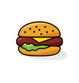hamburger with cheese and lettuce vector image vector image
