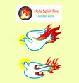 Holy spirit icons vector image vector image