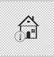 house temperature icon thermometer icon vector image vector image
