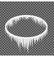 icicles hanging from an oval frame vector image vector image