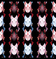 japanese deamon fox pattern vector image vector image