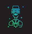 jewish icon design vector image