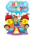kids party theme image 6 vector image