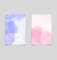 lavender and pink liquid watercolor background vector image vector image