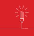 light bulb red vector image