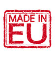 made in eu stamp text vector image