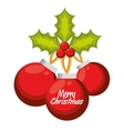 merry christmas balls decorative vector image