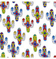 mexican seamless pattern with cactuses vector image