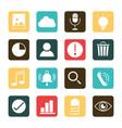 mobile application photo data telephone music vector image