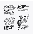 Motorcycle race logo set vector image