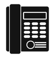 Office business keypad phone icon simple style vector image