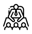 office meeting icon outline vector image vector image