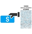 Pay Icon with 1000 Medical Business Icons vector image