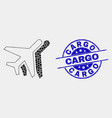 pixelated airplanes icon and distress cargo vector image vector image